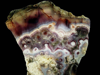 Mixed Media - Lace Agate 2 by Bruce Ritchie