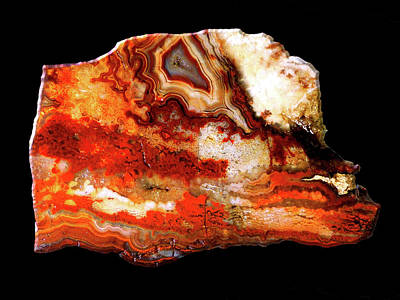 Mixed Media - Lace Agate Red by Bruce Ritchie