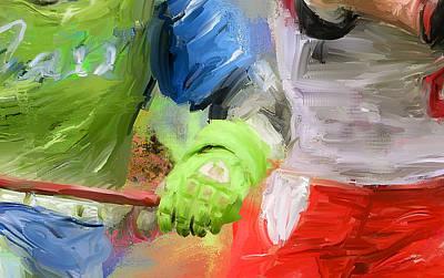 Lacrosse Glove Art Print by Scott Melby