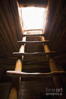 Ladder Of A Native American Cliff Dwelling Art Print by Bryan Mullennix
