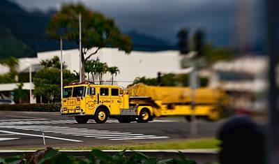 Photograph - Ladder Truck by Dan McManus