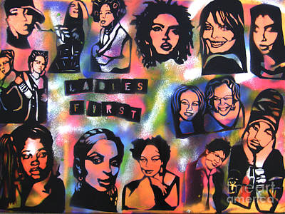 Lil Kim Painting - Ladies First  by Tony B Conscious
