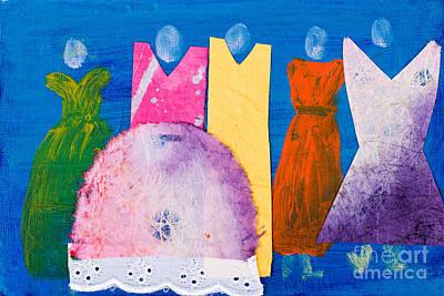 Ladies In Dresses Art Print by Simon Bratt Photography LRPS