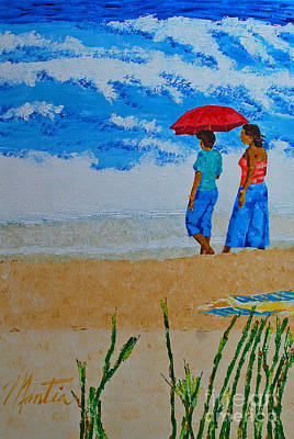 Painting - Ladies On The Beach by Art Mantia