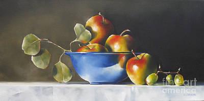 Lady Alice Apples Art Print by Daniele Lemieux