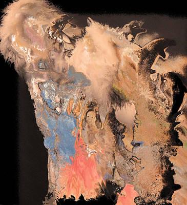 Etc. Digital Art - Lady And The Dolfins by HollyWood Creation By linda zanini