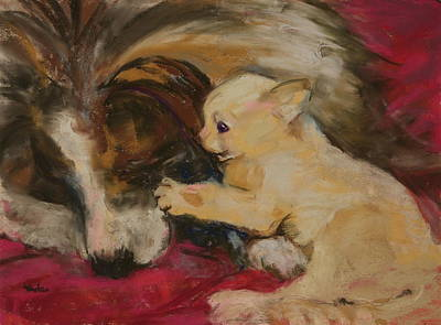 Lady And The Kitten Original by Barbara Torke