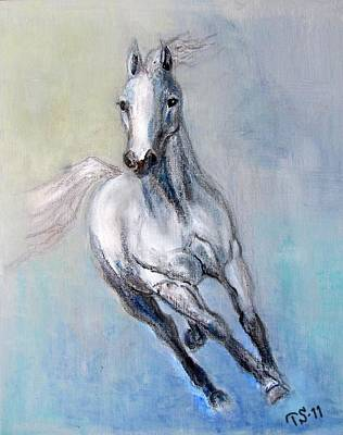 Lady Arabia Art Print