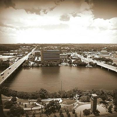 Instagram Photograph - Lady Bird Lake In Sepia by James Granberry