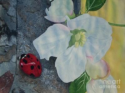 Lady Blossom Art Print by Jennifer Taylor Rogerson
