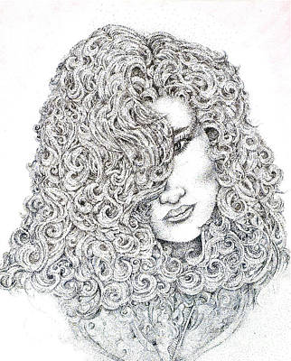 Drawing - Curls by Danielle Scott