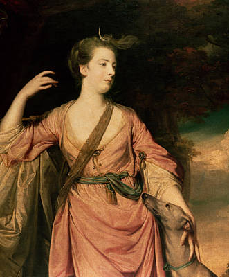 Grey Dress Painting - Lady Dawson by Sir Joshua Reynolds