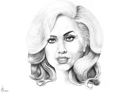 Lady Gaga Drawing - Lady Gaga by Murphy Elliott