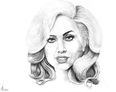 Lady Gaga Print by Murphy Elliott