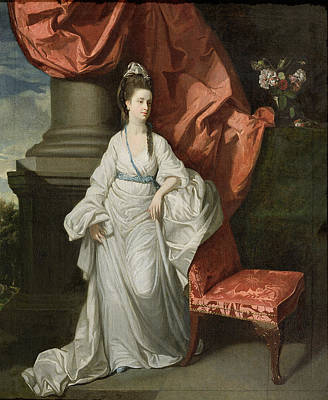 Lady Grant - Wife Of Sir James Grant Art Print by Johann Zoffany