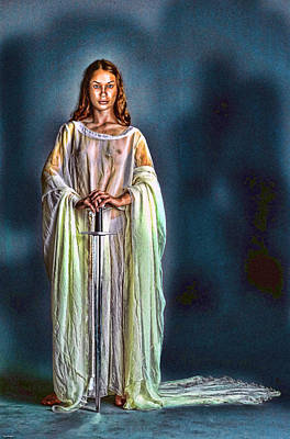 Lady Guinevere Art Print by Tyler Robbins