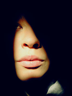 Photograph - Lady In Darkness by Guadalupe Nicole Barrionuevo