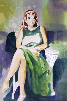 Painting - Lady In Green by Richard Willows