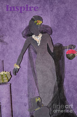 Art Print featuring the photograph Lady In Grey by Tamera James