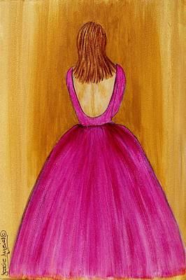 Lady In Pink 4536 Art Print by Jessie Meier