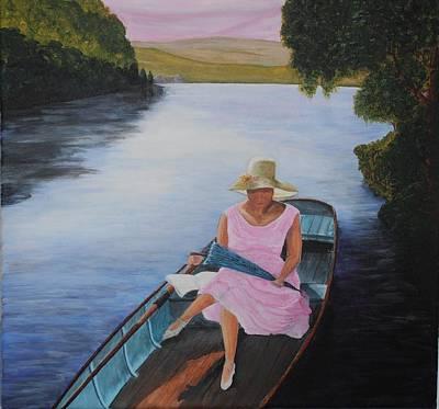 Lady In Pink Art Print by Siobhan Lawson