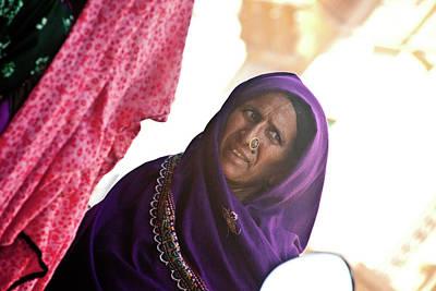 Ashram Wall Art - Photograph - Lady In Purple by John Battaglino