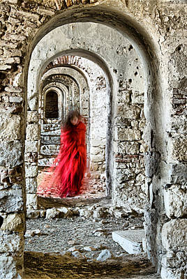 Photograph - Lady In Red by Okan YILMAZ