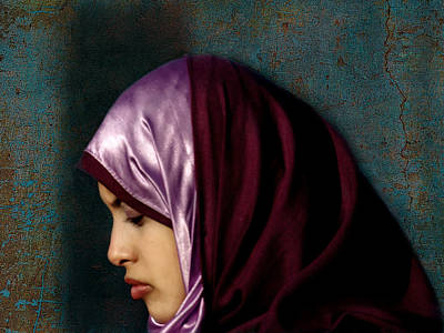Hijab Fashion Photograph - Lady In Red Version 2 by Bjorn Borge-Lunde