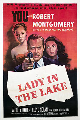 Lady In The Lake, Audrey Totter, Robert Art Print by Everett