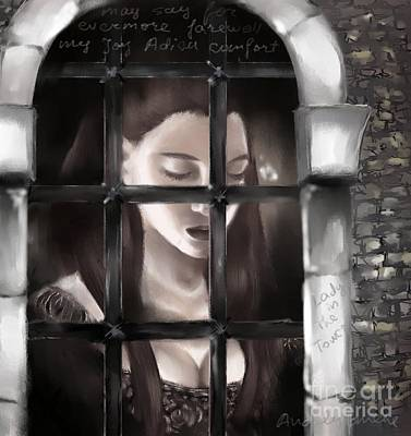 Catherine Howard Digital Art - Lady In The Tower by Nadja Pilitsyna
