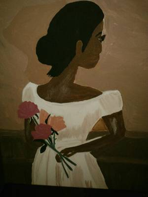 Lady In Waiting Art Print by Felicia LaGrant