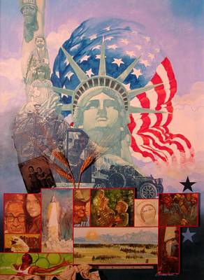 Statue Of Liberty Mixed Media - Lady Liberty Centennial by Chuck Hamrick