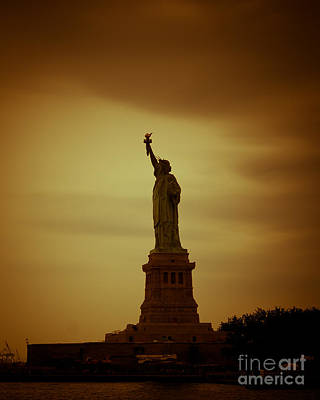 New York City Photograph - Lady Liberty by Ken Marsh
