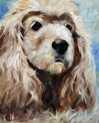 Cocker Spaniel Painting - Lady by Mary Sparrow