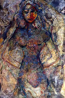Lady Of Los Lunas Art Print by Charles B Mitchell