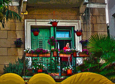 Photograph - Lady Of The Flowers - Senora De Las Flores by Rezzan Erguvan-Onal