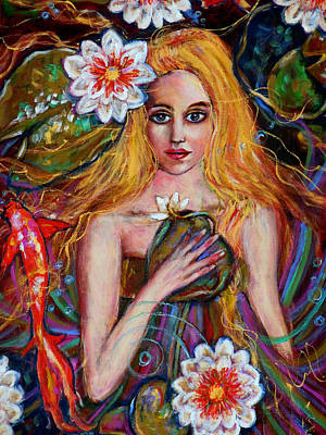 Lilly Pond Painting - Lady Of The Lake by Kimberly Van Rossum