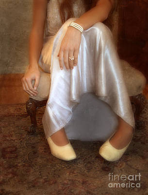 Elegant Engagement Ring Photograph - Lady On Footstool by Jill Battaglia