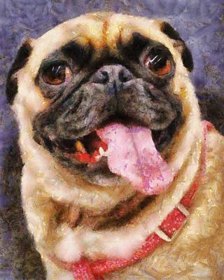 Painting - Lady Pug by Jai Johnson