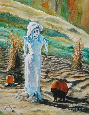 Cornstalks Painting - Lady Scarecrow by Parker Jim