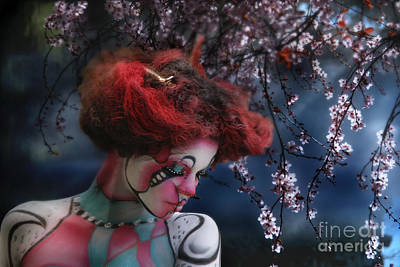 Art Print featuring the digital art Lady Spring Silence by Rosa Cobos