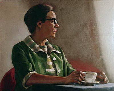 Painting - Lady With A Teacup by Sid Solomon