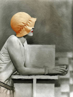Lady With The Orange Hat Art Print by Steve K