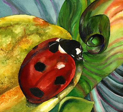 Ladybug Painting - Ladybug by Anne Gifford