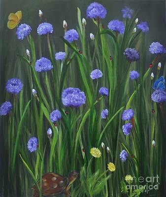Painting - Ladybug Lunch by Carol Sweetwood