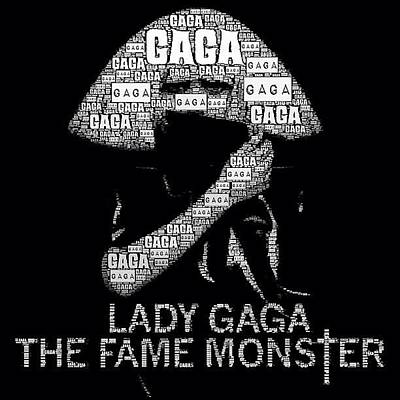 Fame Wall Art - Photograph - #ladygaga #black #text #darkness #music by Dean Ferris
