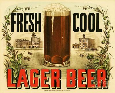 Lager Beer Art Print by Pg Reproductions