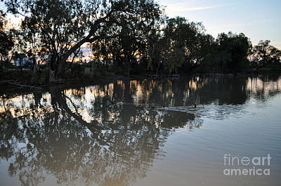 Lagoon At Dusk Art Print by Joanne Kocwin