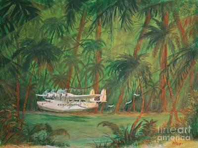 Airways Painting - Lagoon Landing by William Bezik