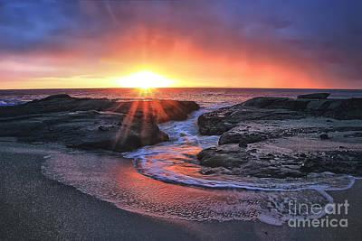 Laguna Beach Sunset Art Print by Elena Northroup